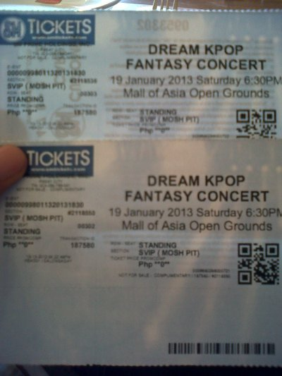 Dream KPOP Fantasy SVIP Tickets c/o Philippine Star